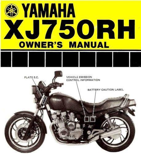 Yamaha Xj 750 R Service Manual
