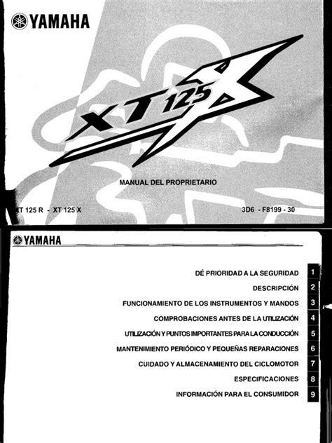Yamaha Xt 125 User Manual