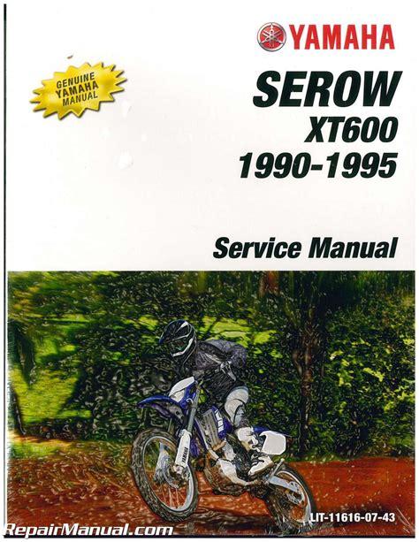 Yamaha Xt600 1990 Owner Manual