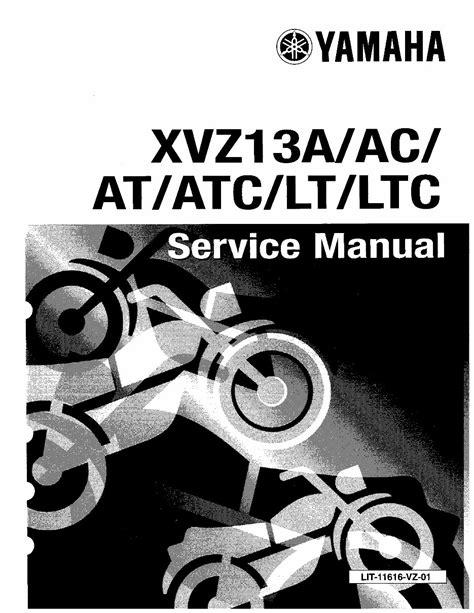Yamaha Xvz13a Royal Star Workshop Repair Manual