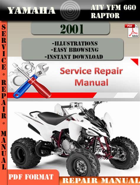 Yamaha Yfm 660 Rn Rnc Raptor Service Manual 2001