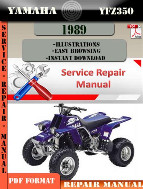 Yamaha Yfz350 1989 Repair Service Manual