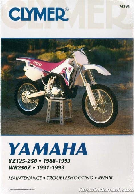 Yamaha Yz 125 Repair Manual 1991