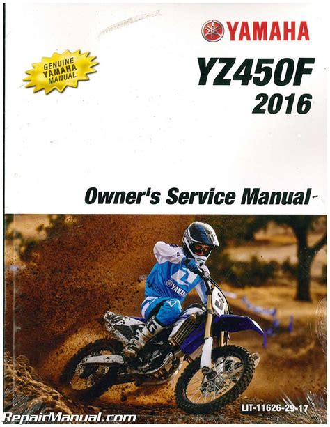 Yamaha Yz450f 2016service Manual