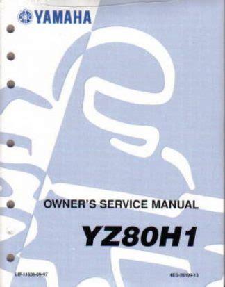 Yamaha Yz80 Full Service Repair Manual 1996 1997