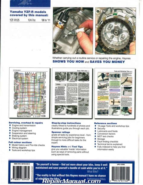 Yamaha Yzfr125 Service Repair Manual 2008 2012