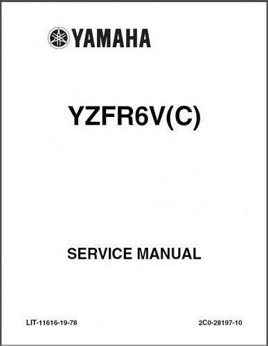 Yamaha Yzfr6 Service Repair Workshop Manual 2008