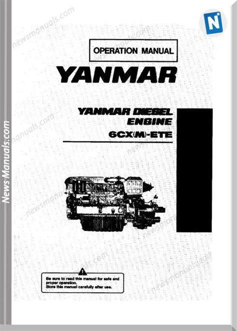 Yanmar 6cx Etye Marine Diesel Engine Complete Workshop Repair Manual