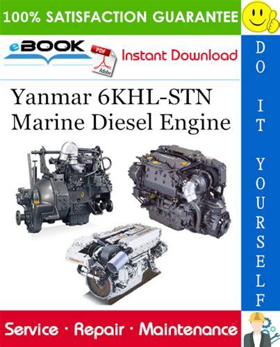 Yanmar Marine Diesel Engine 6khl Stn Service Repair Manual
