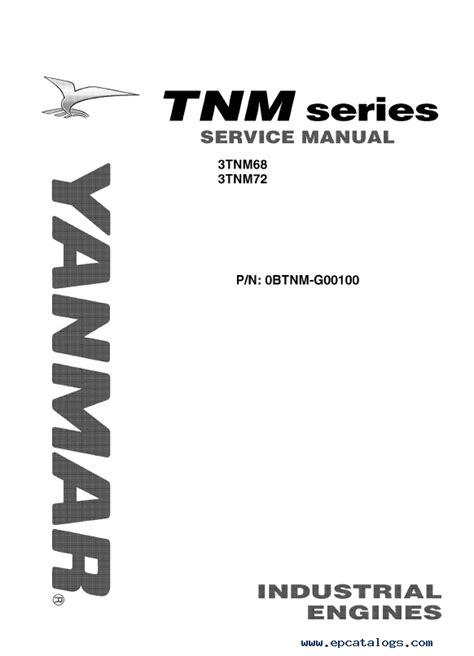 Yanmar Tf Series Workshop Manual