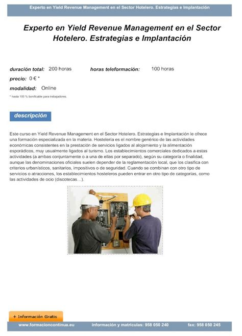 Yield Revenue Management En El Sector Hotelero