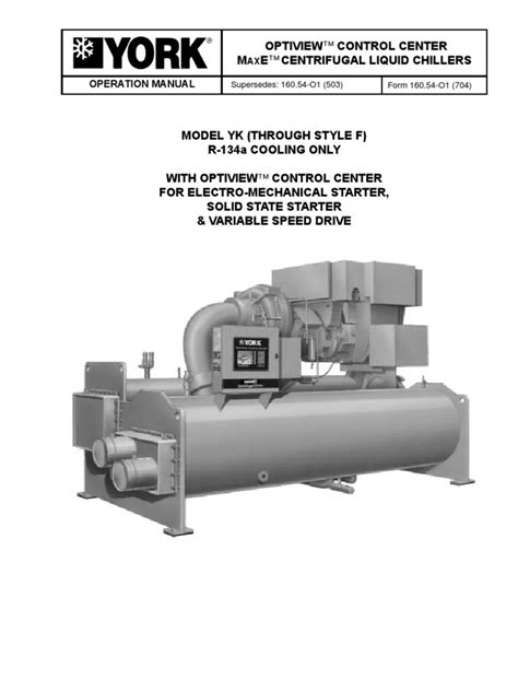 York Chiller Manuals