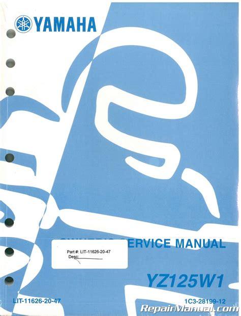 Yz125 Service Manual 2007