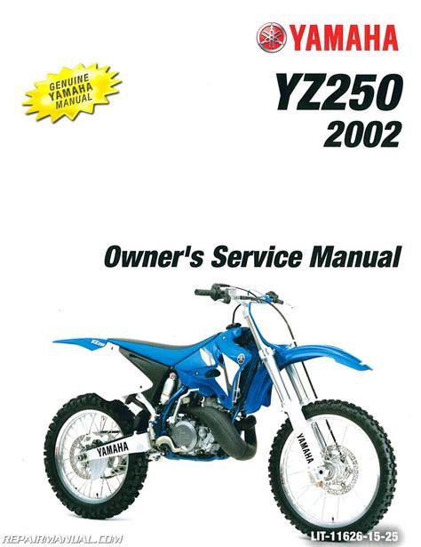 Yz250 2002 Service Manual