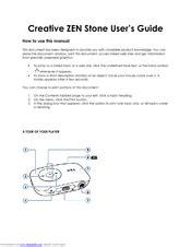 Zen Stone 1gb Manual