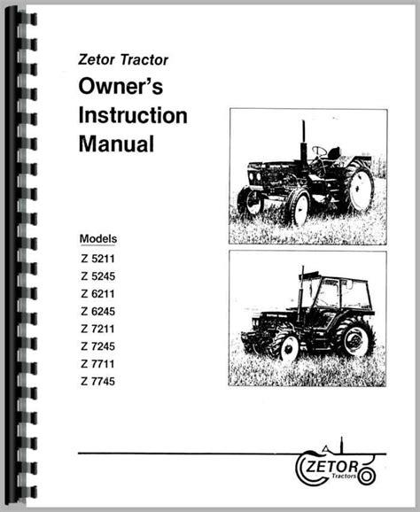 Zetor 6245 Operators Manual