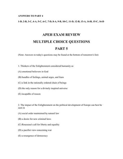 aPHRi Practice Exam Questions