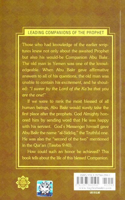 abu bakr the pinnacle of truthfulness leading companions of the prophet