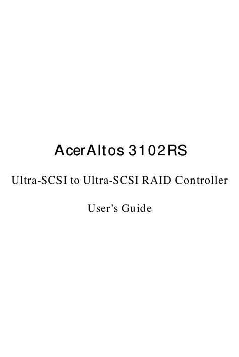 Acer Aceraltos 3102rs Repair Service Manual User Guides EBook ...