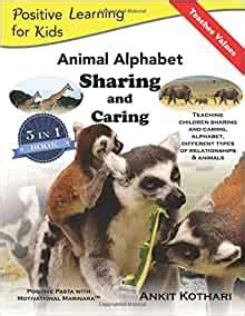 animal alphabet sharing and caring 5 in 1 book teaching children sharing caring animals alphabet and relationships positive learning for kids volume 2