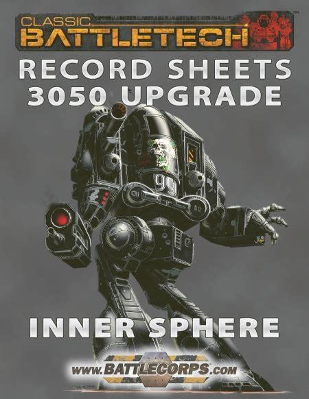 battletech record sheet 3050 upgrade op