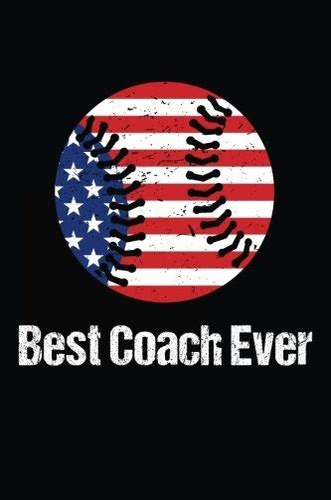 best coach ever baseball coach gift notebook journal v28 baseball books for kids