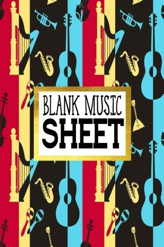 blank music sheet manuscript paper 8 stave music journal piano guitar 6x9 100 pages volume 8