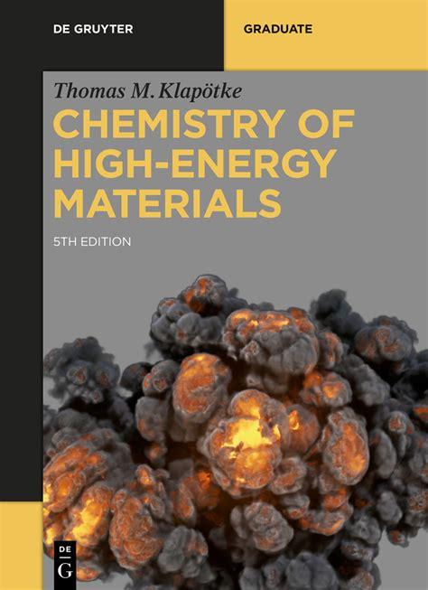 chemistry of high energy materials de gruyter textbook