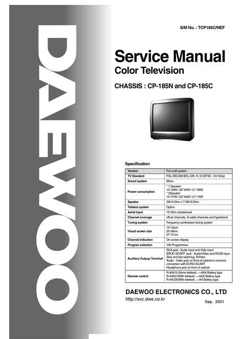 Daewoo Lcd Tv Service Manual EBook - 18.atla-group.net