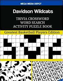 davidson wildcats trivia crossword word search activity puzzle book greatest basketball players edition