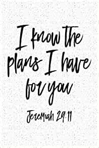 for i know the plans i have for you a 6x9 inch matte softcover journal notebook with 120 blank lined pages and a bible verse cover slogan