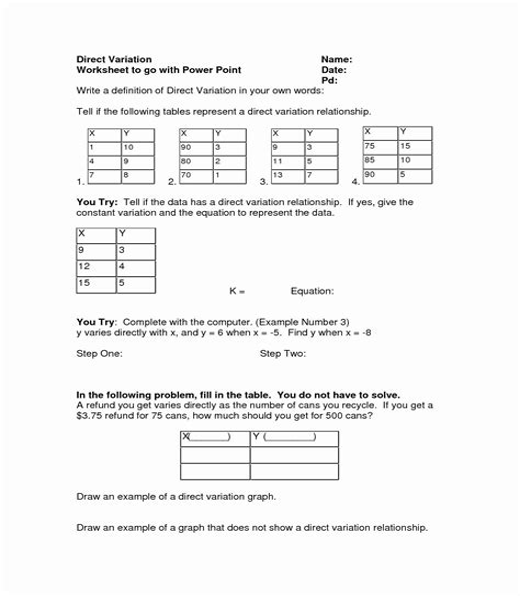 Inverse Variation Worksheet With Answers - PDF - udtp.itu.edu