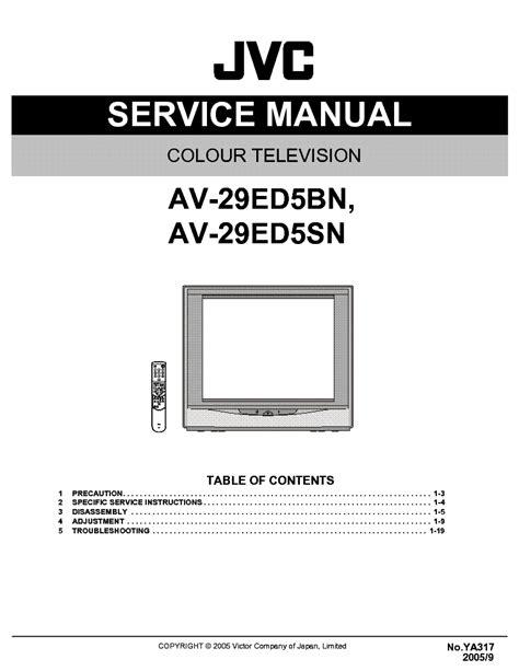 Jvc Av 29ed5bn Colour Tv Service Manual EBook - 2.getonwithlife.info