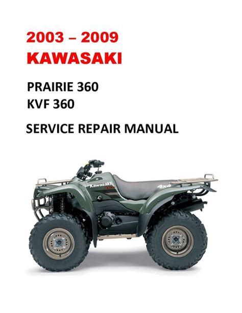 Kawasaki 2003 Kvf 360 Owners Manual