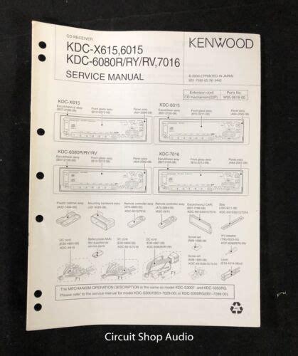 Kenwood Kdc X615 6015 Cd Receiver Repair Manual Guidebook