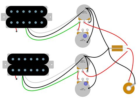 Les Paul Humbucker Wiring Diagram
