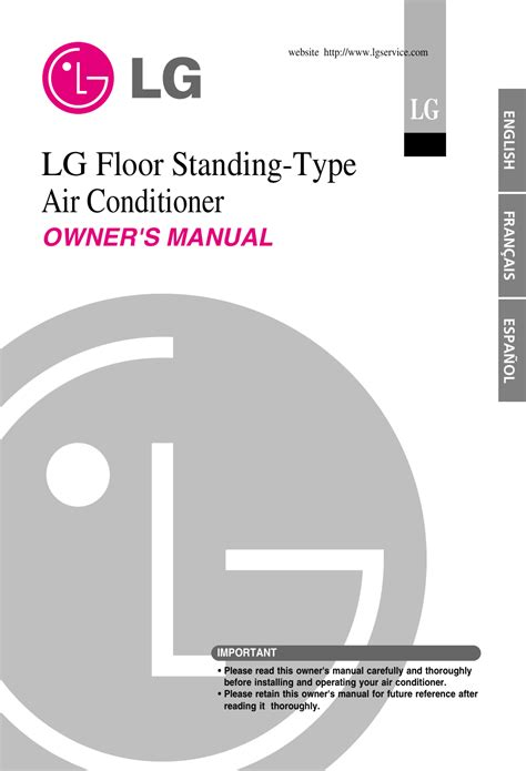 Lg Air Conditioner Instruction Manual
