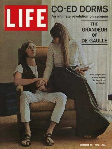 life magazine from november 20 1970 oberlin students in coed dorm