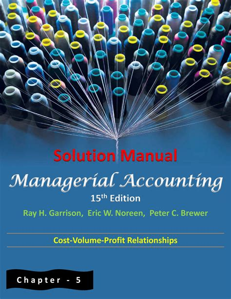 managerial accounting for managers solutions manual
