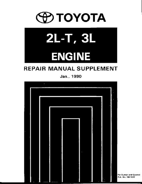 Manual Book Toyota Diesel 2l 1988