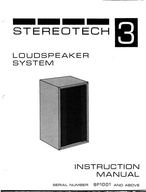 Mcintosh Stereotech 3 Original Service Manual EBook - 3.hotels ...