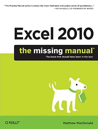 Missing Manual Excel 2010