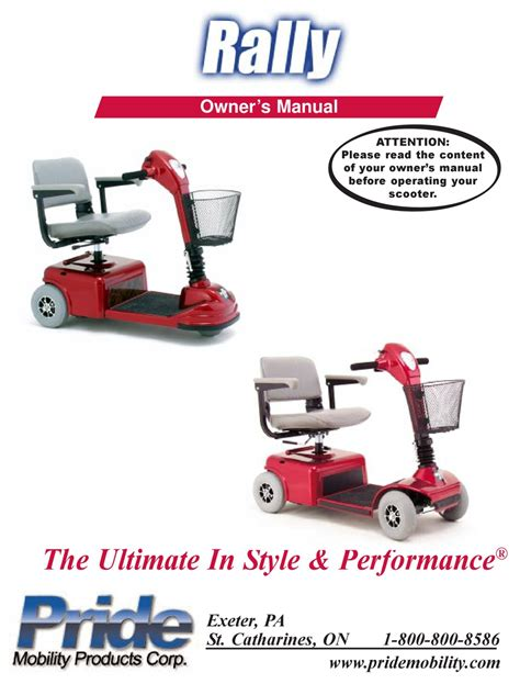 Mobility Scooter User Manuals