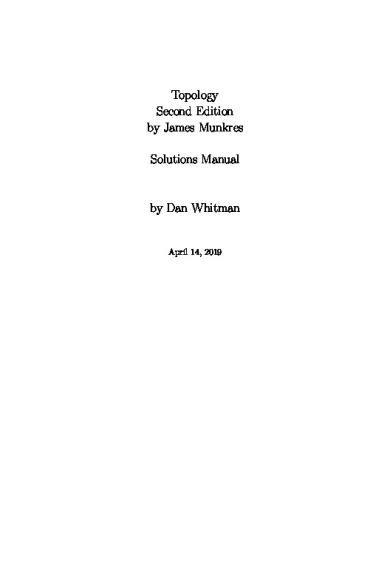 Munkres Topology Solutions Manual - PDF - udtp itu edu