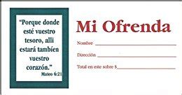 my offering envelope 100pk spanish edition