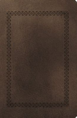 nkjv end of verse reference bible giant print personal size leathersoft brown red letter edition