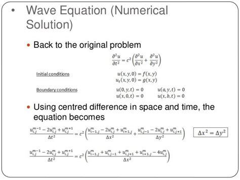 numerical solution wave equation