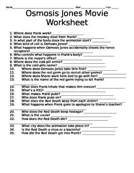 Osmosis Jones Movie Question And Answer Sheet - PDF - udtp ...