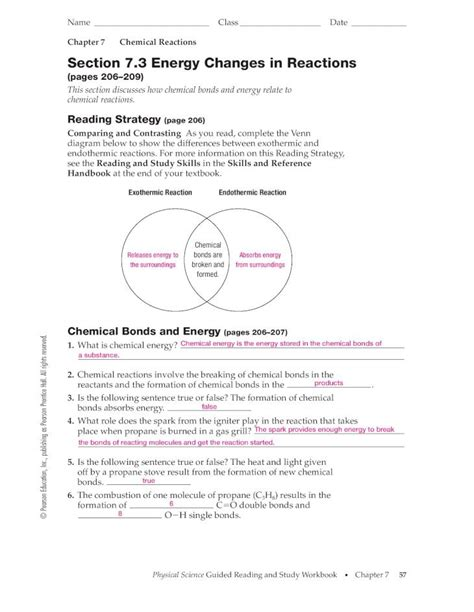 Physical Science Reading And Study Workbook Answers Chapter