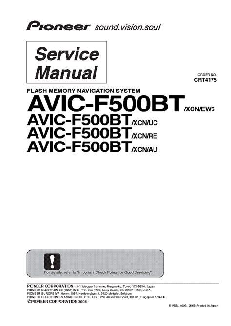 Pioneer Avic F500bt Service Manual Repair Guide Mobi For Mobile Google Manual On Ln Battlepistols Site